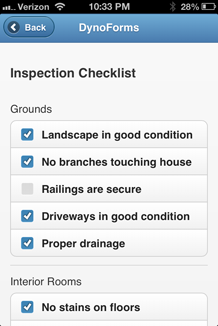 Mobile Form - Inspections